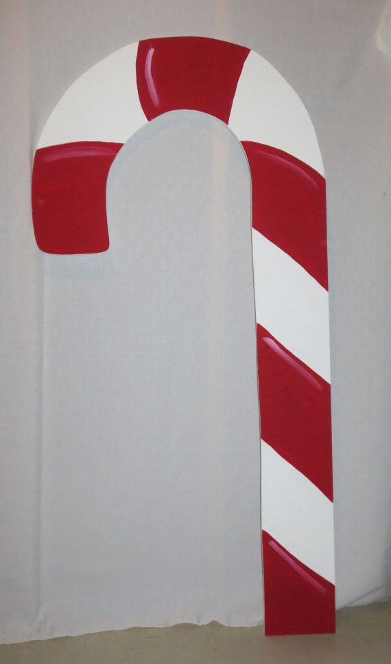 Christmas Large Candy Canes Outdoor Wood Yard Art, Set of 2