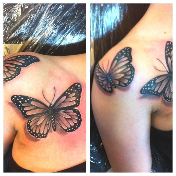 3d Black And 3d Black And Gray Butterfly Tattoos For Men Ink Tattoo Girl With Images Realistic Butterfly Tattoo Butterfly Tattoo Ink Tattoo Girl