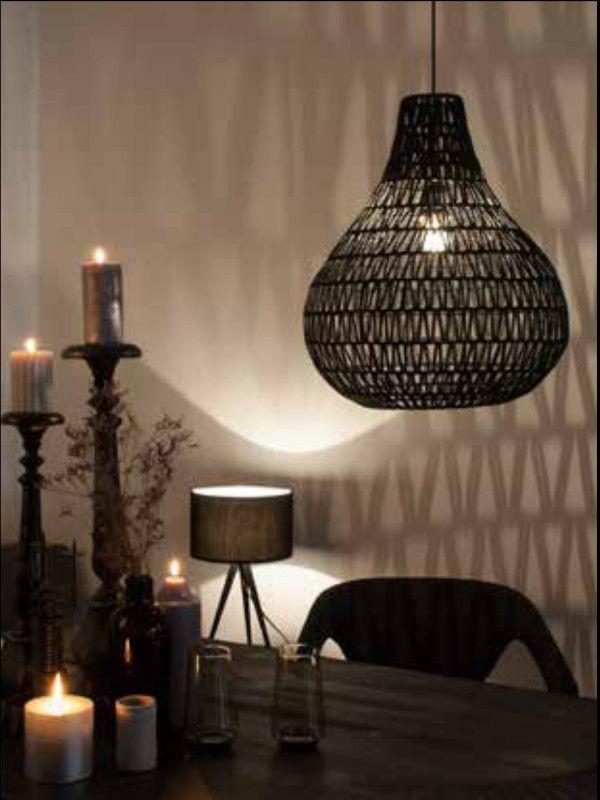 Lamp Paper Druppel Zwart