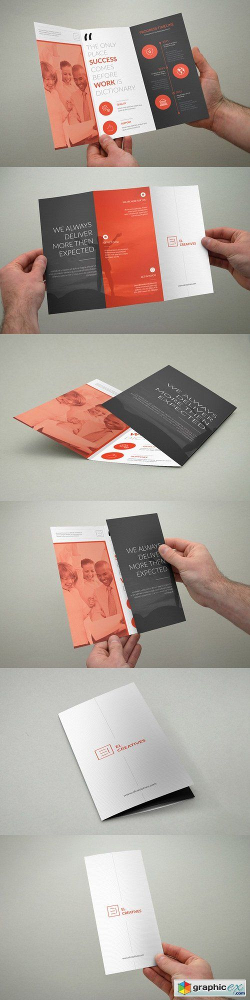Clean Multipurpose Trifold Brochure 392153
