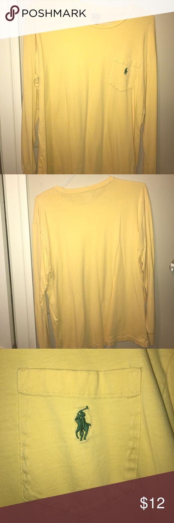 Yellow Polo Ralph Lauren long sleeve t-shirt Yellow Polo Ralph Lauren long sleeve t-shirt - great condition! Polo by Ralph Lauren Shirts Tees - Long Sleeve
