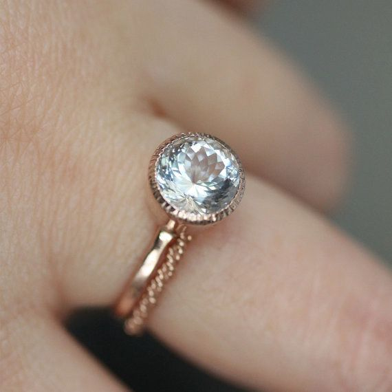 A precious aquamarine ring.