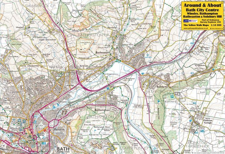 Bath City Centre, Winsley, Bathampton, Batheaston & Solsbury Hill - front of the map