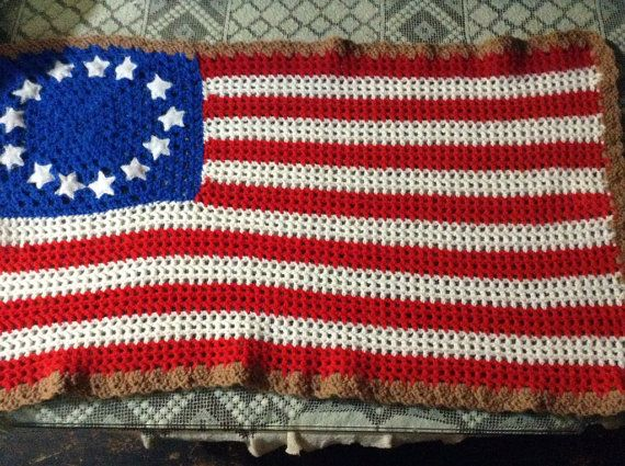 Small American Flag Crochet Pattern : 8 best images about flags on Pinterest Free pattern ...