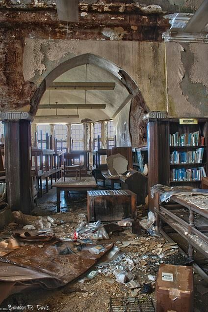 abandoned Detroit Library