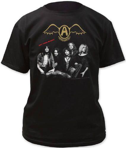 Aerosmith T-shirt - Get Your Wings Album Cover Artwork | Men's Black Shirt