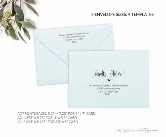 Pin by Rachel Young on Holiday Card Envelopes Pinterest Envelopes - a7 envelope template