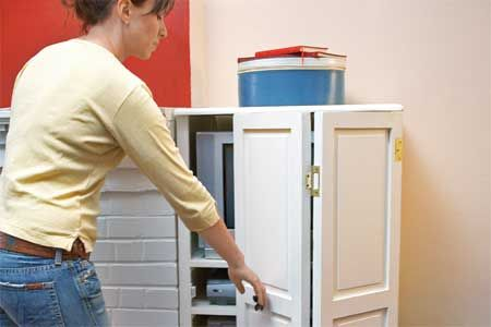 Recycle old shutters into new cabinet doors. | Photo: Kristine Larsen | thisoldhouse.com