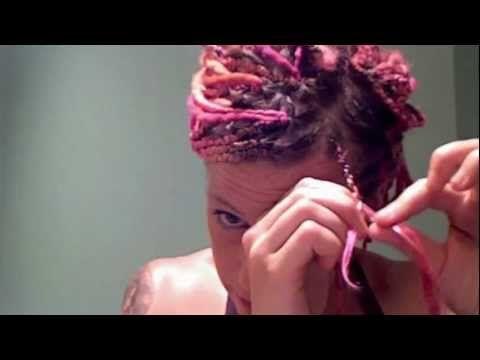 Braiding yarn into hair video!