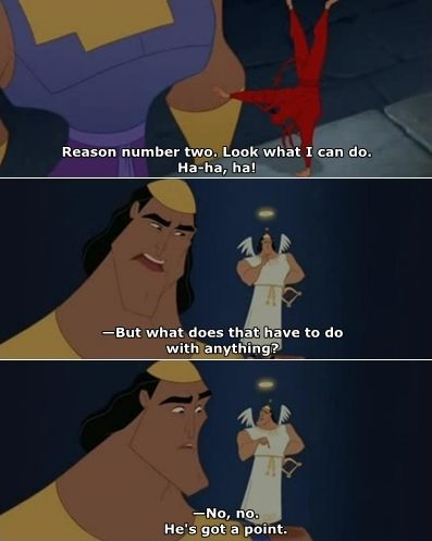 Haha! Love this movie!: Disney Movies, Laughing, Emperor New Groove, Funny Movie, Best Movie, Quote, Shoulder Angel, Favorite Movie, Emperors New Groove