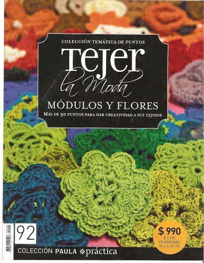 Tejer La Moda 092 - Módulos y Flores - Melina Tejidos - Picasa Web Albums...FREE MAGAZINE AND DIAGRAMS!!