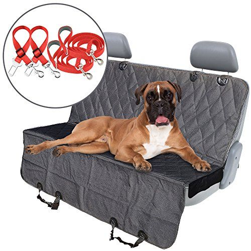 #K9KONNECTION #Pet #Seat #Cover for #Cars - #BONUS #Dog #Seat #Belt & #Leash #Gift #Set, #Waterproof & #Scratch #Proof & #Nonslip #Backing & #Hammock, #Ultimate #Car #Accessories for #Pets, #Dog #Seat #Cover for #Backseat QUICK & EASY TO INSTALL - Universal back #seat #cover fits in most #cars, trucks and SUVs. Durable velcro #seat anchors easily strap to headrests and installs in minutes. Easily convertible between #hammock or standard bench coverage ANTI-SLIP #PET #SEAT #CO