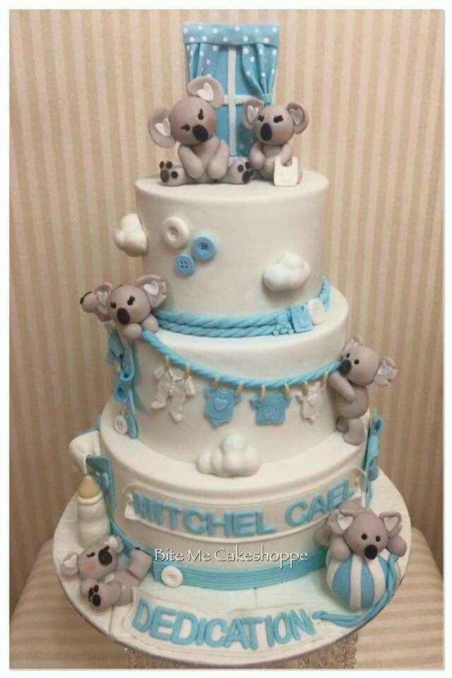 Koala Bear Baby Cake