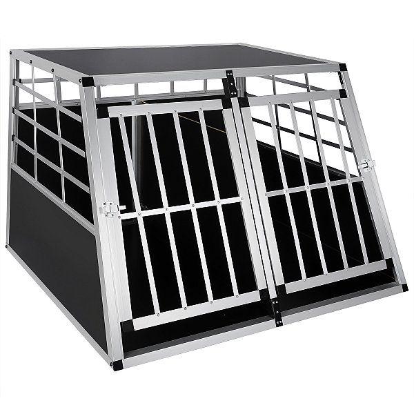 Gitterbox Autotransportbox Hundebox Hundetransportbox Alu Hund Box HT2013 | Woltu