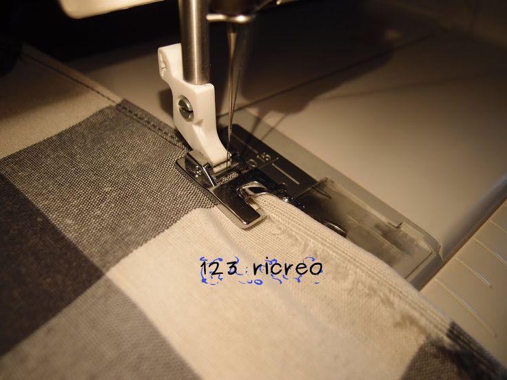 #Piedino Orlatore per #macchina da #cucire -  come si usa - video tutorial da 123ricreo