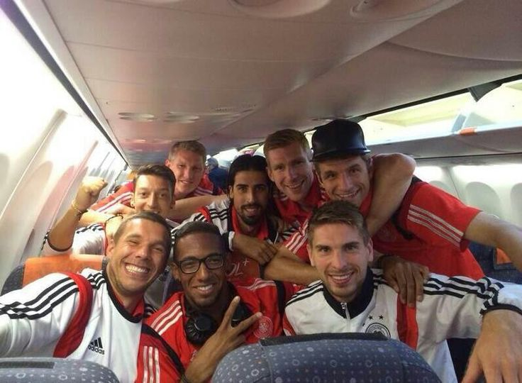 German team on the bus
