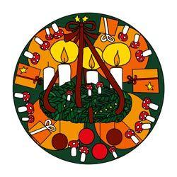 Malvorlage Dritter Advent