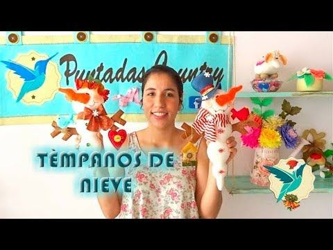 TÉMPANOS DE NIEVE NAVIDEÑOS - PUNTADAS COUNTRY - - YouTube