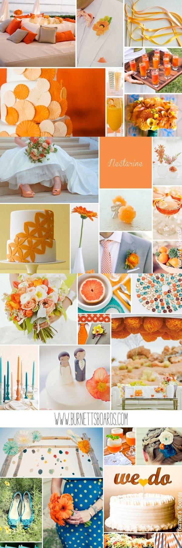 orange wedding inspiration and ideas http://burnettsboards.com/category/oranges/
