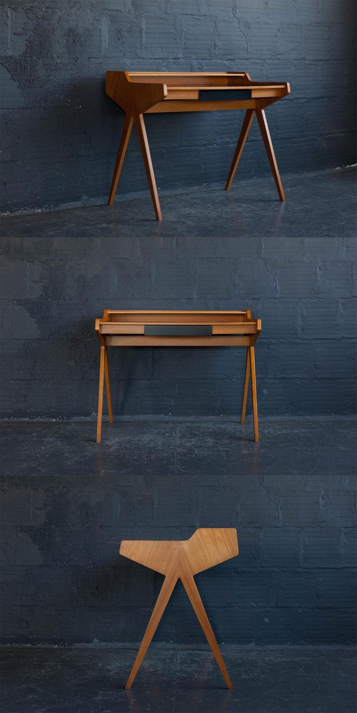 Would you just look at this sexy desk! Woo. It's a Helmut Magg drafting desk from the 1950s spotted on @chairishco - See all my picks: https://www.chairish.com/shop/designmilk/favorite/list?utm_source=design-milk.com-homegirls&utm_medium=bloggers&utm_campaign=jaimehg #foundandchairished