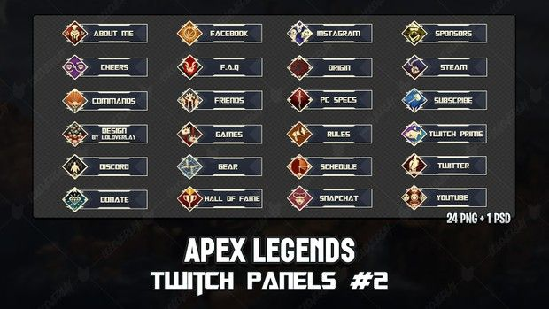 ✅ apex legends - twitch panels #2 | Gamer Girl | Twitch
