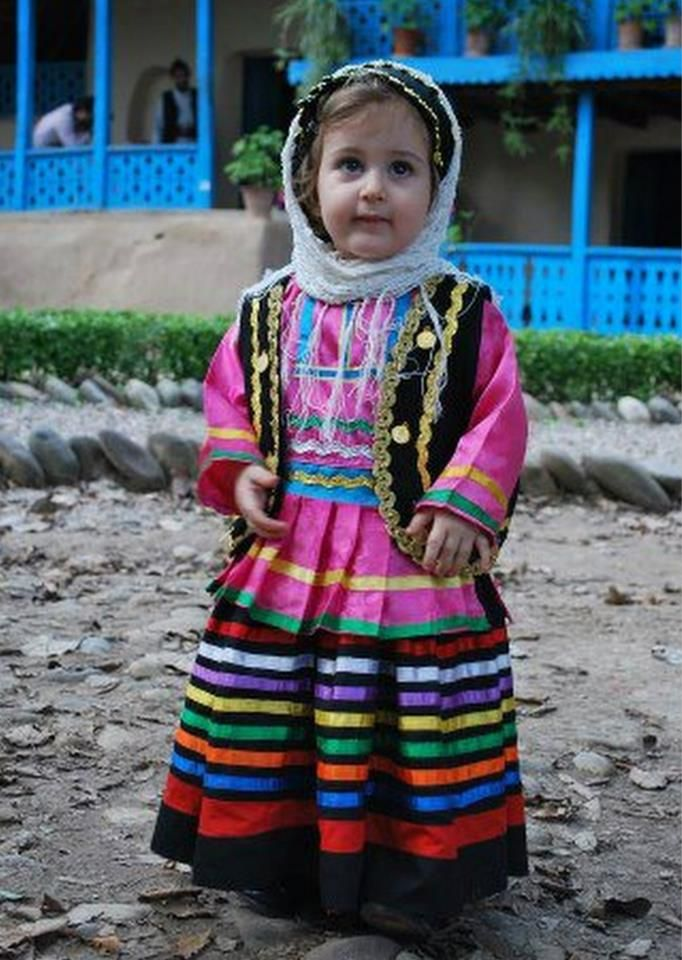 ♥Little Girl in traditional folkloric costume -IRAN/She was just too cute not to pin.