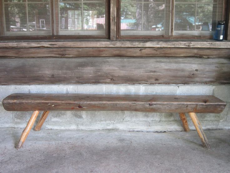 Vintage wooden bench made from half a tree trunk with branches for legs. 34 best Garden Furniture images on Pinterest