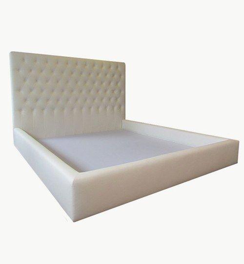 Skräddarsydd sänggavel och sängram Anpassad för säng i storlek 180 x 200 cm Konstläder Pisa