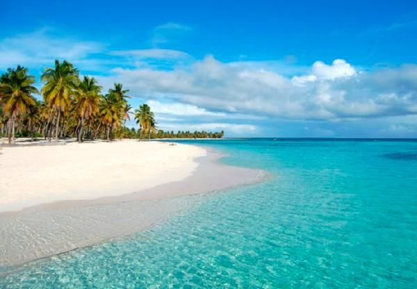 White sand and clear blue waters at Saona Island, Dominican Republic, went here on our first trip to Domincan Republic back in 97' - gorgeous beach & water