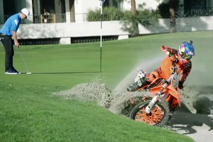 Ronnie Renner Golf Course Freeride Motocross Video