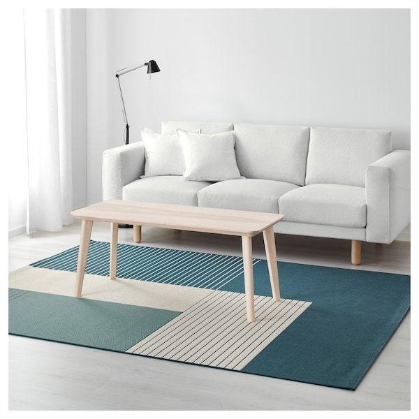 Roskilde Alfombra Int Ext Azul Verdoso Ikea Tapis Tendance Tapis Tisse Plat Plein Air Ikea