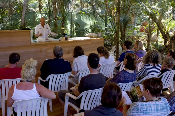 Steven Snow teaching cooking classes   Lord Howe Island