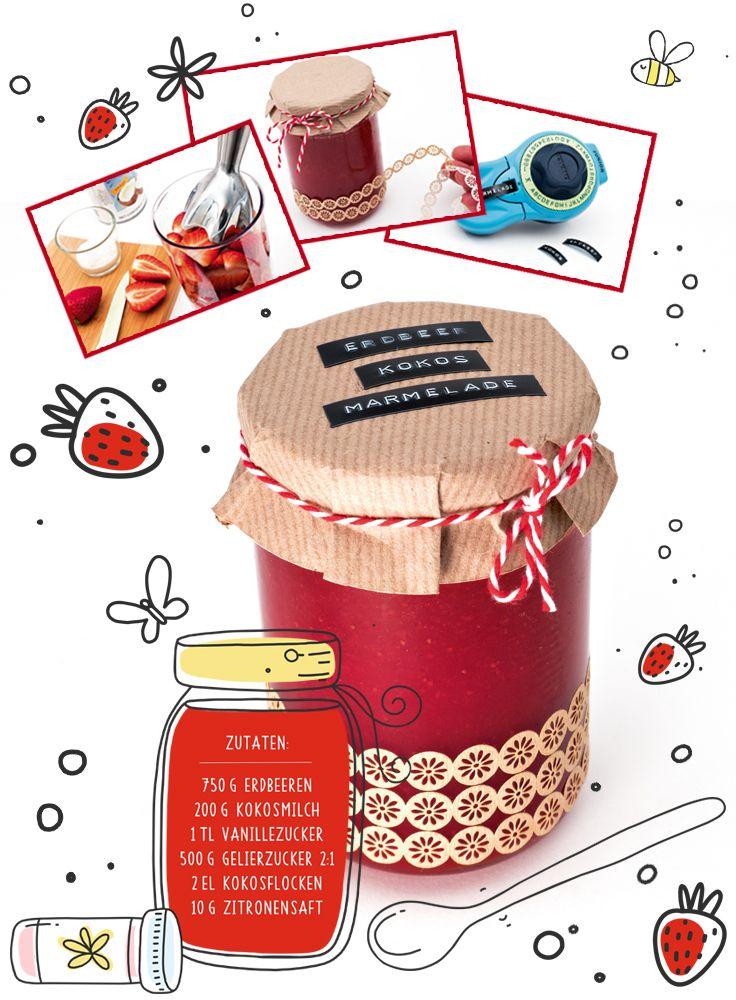Endlich ist es wieder so weit, es ist Erdbeerzeit. Erdbeermarmelade kennen wir alle, aber in Kombination mit Kokosmilch schmeckt die Marmelade einzigartig gut! Das Rezept und tolle Ideen für kreative Verpackungen finden Sie auf www.pagro.at