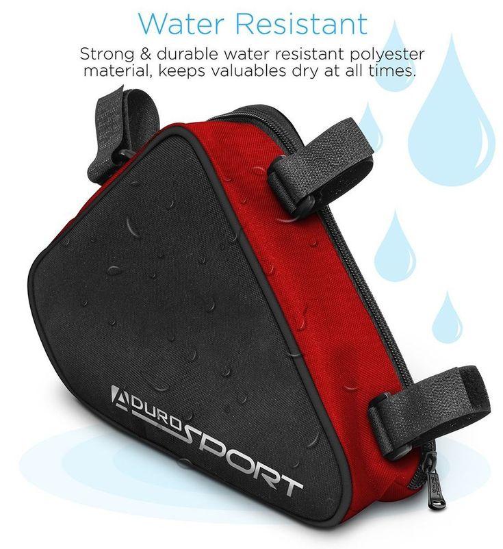Bike Storage Bag for Bicycle Cycling Triangle Mobile Keys Cell Phone Sports NEW #BikeStorageBag