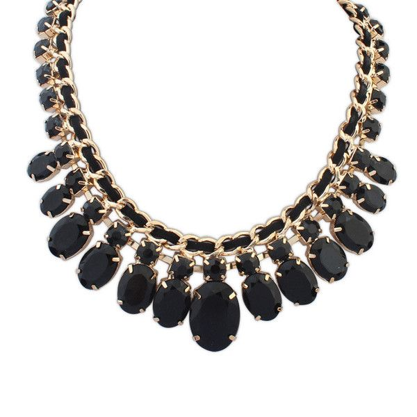 Beyonce Chic Statement Necklace £12.00  Black and gold have always been a winning combination, as this striking necklace demonstrates perfectly. Black is the most versatile colour of all, it will match with any other colour, making it incredibly easy to accessorize almost any outfit, although the necklace works especially well with evening wear.