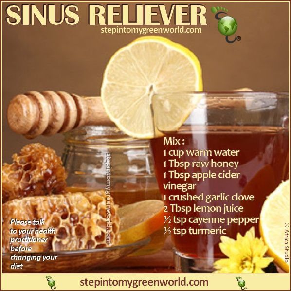 Great natural way to relieve your sinuses.