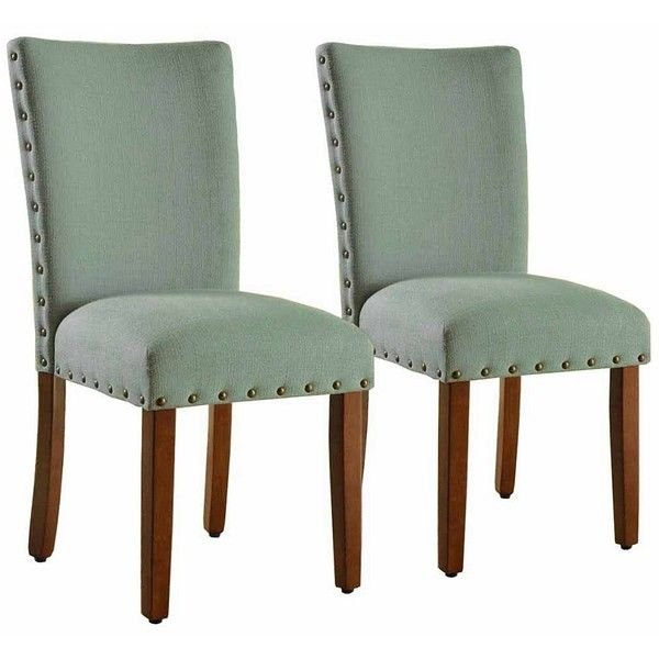 Genial Seafoam Green Parsons Chairs, Set Of 2 ($200) ❤ Liked On Polyvore Featuring  Home, Furniture, Chairs, Dining Chairs, Nailhead Furniture, Nailhead Tru2026