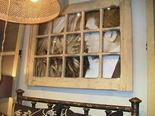 finestra come cornice portafoto shabby chic