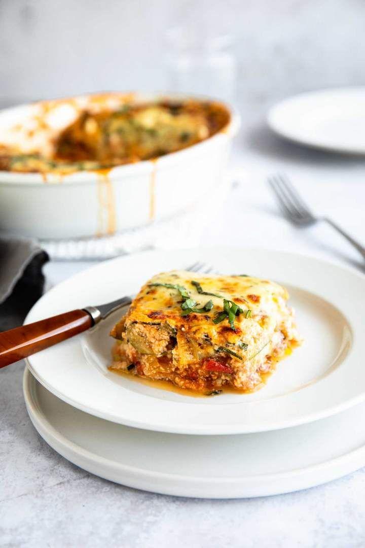 Zucchini Lasagna With Ground Beef Keto Friendly Recipe Zucchini Lasagna Healthy Casseroles Recipes