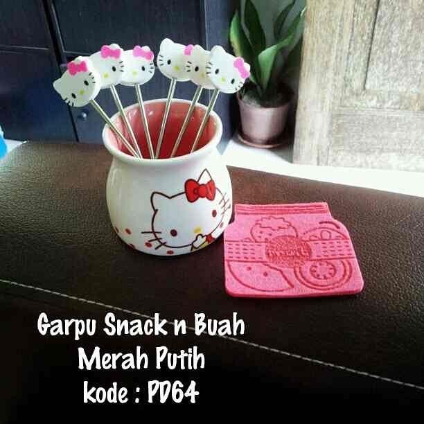 Garpu Buah Hello Kitty murah grosir ecer keramik ~ Toko Cherish Imut