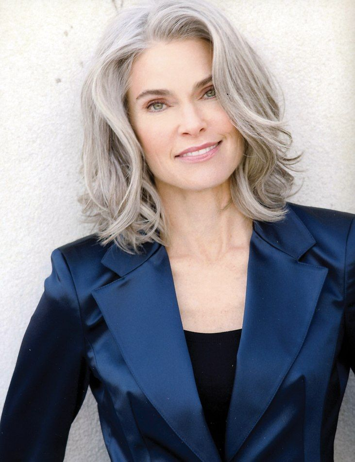 Model: Roxan Gould - I think that gray/silver hair is so classy!! I love it, it doesn't hurt that she's gorgeous on top of it!!!!