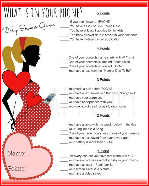 Valentines Day Theme Baby Shower Game