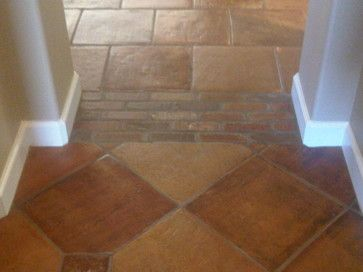 Example Of Transition Between Rooms Saltillo Tile Flooring