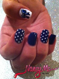 navy blue and polka dots #polish