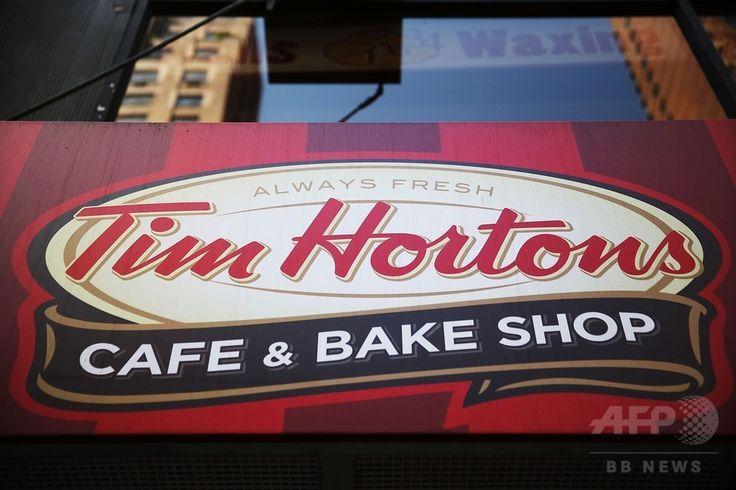 米ニューヨーク(New York)にあるティム・ホートンズ(Tim Hortons)店舗の看板(2014年8月25日撮影)。(c)AFP/Getty Images/Spencer Platt ▼27Aug2014AFP|米バーガーキング、加ティム・ホートンズを買収 業界世界3位に http://www.afpbb.com/articles/-/3024243 #Tim_Hortons