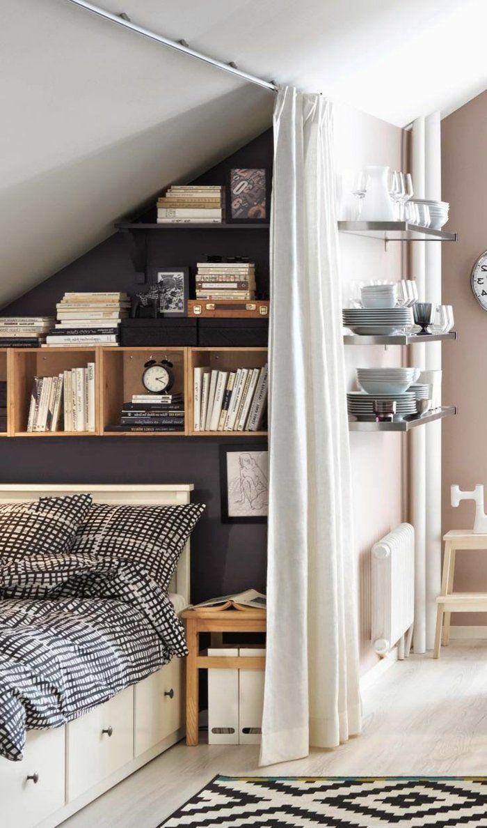 toit en pente, Rangement sous pente and Rangement sous escalier