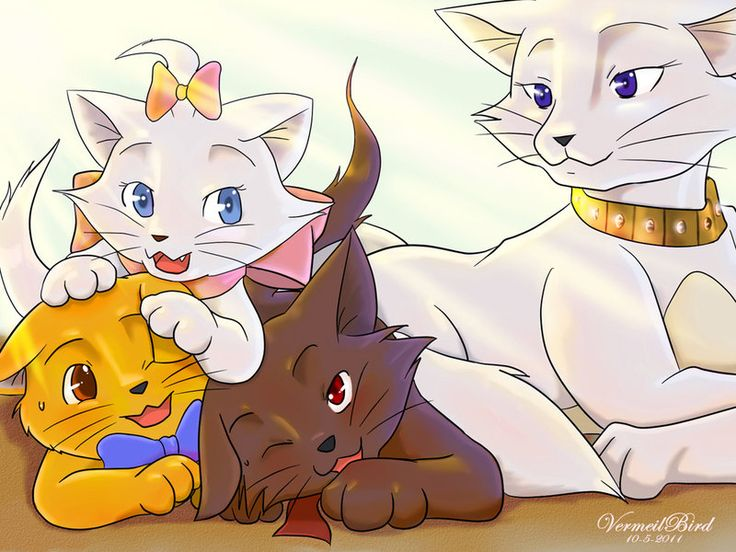 Disney's The Aristocats - Marie, Toulouse, and Berlioz  ~  The Aristocats by Vermeilbird   ~ Google