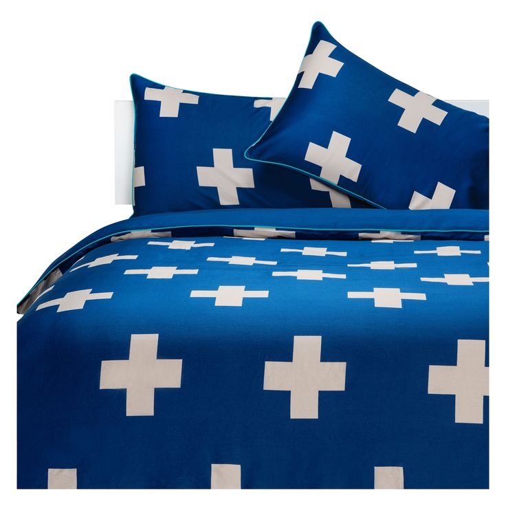 Aura Marine Crosses Quilt Cover from Domayne Online   A