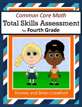 For 4th grade - Common Core Math Total Skills Assessment is a collection of math problems targeted toward specific Common Core standards for the fourth grade. $