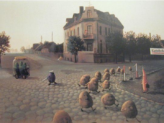 Michael Sowa ミヒャエル・ゾーヴァ  空想と現実を絶妙なタッチで描くドイツの画家   BIRD YARD